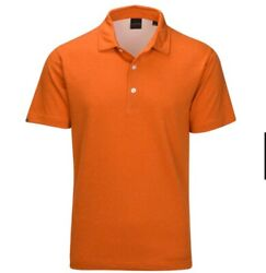 Dunning Golf Rothes Golf Polo Sun Orange Large NWT $23.00