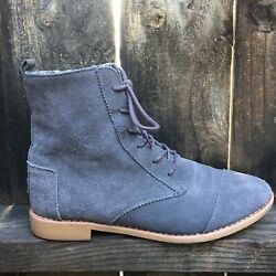 Toms Womens Boots 9 Gray Shoes Suede Leather $29.99