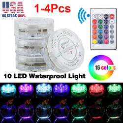 1-4Pcs Swimming Pool Lights Underwater Float Fountain Waterfall LED Multi Color $17.99