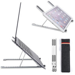 Adjustable Aluminum Laptop Stand For Desk Portable Laptop Riser Laptop Holder $21.99