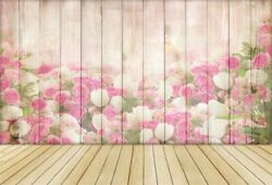 7x5ft Wood Board Blossom Flower Banner Baby Backdrop Photography Prop Background $9.23