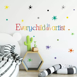 Every Child is an Artist Wall Kids Bedroom Decoration Home Decor Mural Stickers AU $12.00
