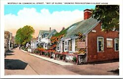 Westerly on Commercial Street Oldest House Provincetown Massachusetts Postcard