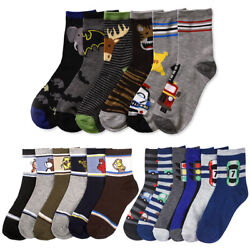 6 Pairs Assorted Boys Socks Size Ages 6 8 Years Kids Casual Sport Youth New $8.99