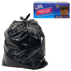 30 Pc Trash Bags 30 Gallon Large Commercial Strong Garbage Tall Kitchen Yard
