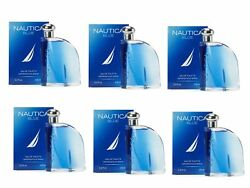 Nautica Blue Eau De Toilette 3.4 oz 100 ml For Men Pack of 6 $65.98