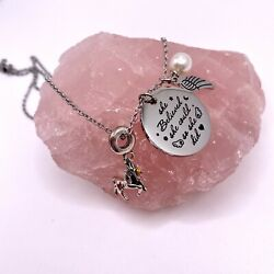 Inspirational Jewelry Necklace for Women Unicorn Peals Wing - She Believed She C