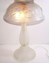Unique amp; Creative See Why Below 22quot; Tall Frosted Glass Table Lamp amp; Shade $42.75