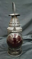 Antique Tall Caboose Dressel Lantern From Arlington New Jersey With Burner $295.00