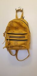 NWT Under One Sky Mini Backpack PINEAPPLES yellow mustard zippers laser cut cute $33.00