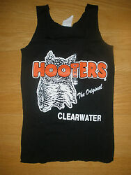 New HOOTERS Girl Authentic Black Uniform Tank Clearwater FLA Sizes XS SM MED LRG $25.95