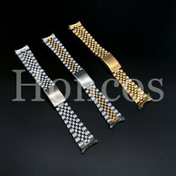 13 20mm Stainless Steel Curved End Jubilee Watch Band Bracelet Fits Rolex 2020 $16.99