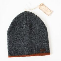 New Fat Face Men's Hat Soft Brushed Beanie Charcoal Grey With Tag $16.00