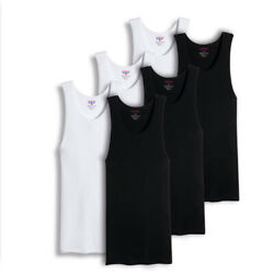 Mens 100% Big And Tall Cotton Tank Top Wife Beater A Shirt Undershirt Ribbed $14.99