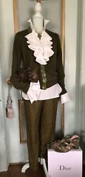 NWT J.Crew Olive Green Lace Pants Size S $66.00