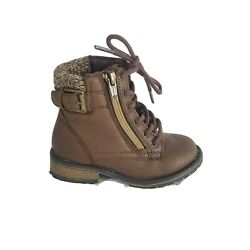 WONDER Nation Kids lined lace up Boots SIZE 8 $15.00