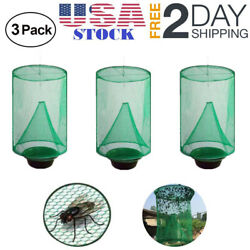 3 X Pest Control Fly Insect Trap Hanging Folding Catcher Net Killer Cage USA $13.25