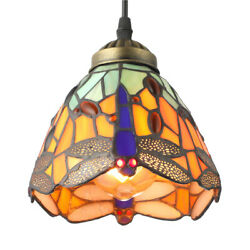 Tiffany Retro Stained Glass Dragonfly Pendant Light Kitchen Ceiling Lamp Fixture $44.99