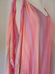 NEW Silk Kaftan Caftan resort wear Beach Coverup maxi pink purple blue tie dye