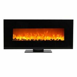 50quot; Wall Mount Fireplace Standing Electric Adjustable Heater w Tempered Glass $538.99