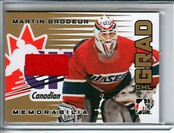 2005-06 ITG Heroes and Prospects CHL Grads Gold #CG14 Martin Brodeur /10 $67.25