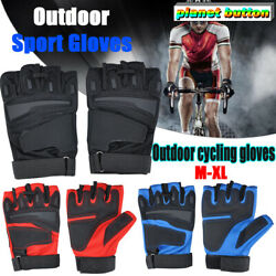 Tactical Fingerless Glove Knuckle Half Finger Motorcycle Cycling Sport Gloves $5.09