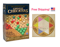Traditions Chinese Checkers Game Board Classic Modern Collectors Board Game Set $15.50