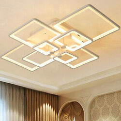 8Heads Acrylic Modern LED Ring Lamp Chandelier Ceiling Light  Pendant Light $129.66