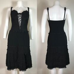 Rare Vtg Moschino Cheap amp; Chic Black Corset Dress M $248.00