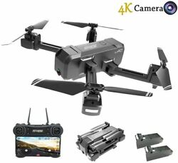 HScopter Foldable Drone with WiFi FPV Live Video 4K Camera and 720P Optical Flow $119.99