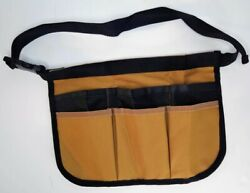 Waist Tool Bag Pouch Multi-Function 6 Pockets - Brown & Black Utility Gadget $14.98