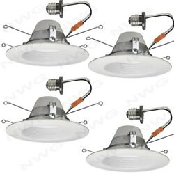 Smart LED Lighting Ceiling Wireless Dimmable Recessed Downlight 5 6 in White 4PK