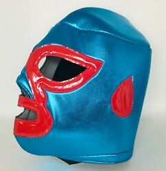 Nacho Libre Novelty Blue and Red Adult Size MaskMovie Inspired Mask Polyester $16.99