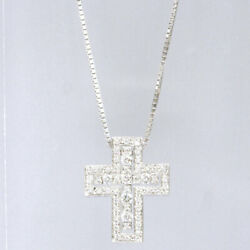 Damiani Belle Epoque diamond cross 18 white gold pendant (3718