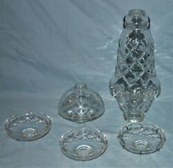 Salvaged Vintage Crystal Glass Chandelier Lamp Parts $44.99