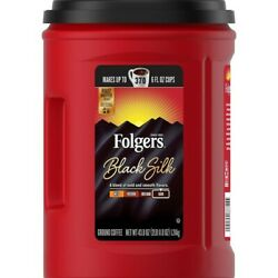 Folgers Black Silk Dark Roast Coffee Grounds 43.8 oz. 2550088757 $14.99