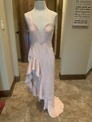 Privacy Please Formal Party Dress Sexy Slit Ruffle Peach XS NWT Retail$200 121 $48.00