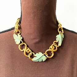 GIVENCHY Vintage Gold Tone Choker Necklace $180.00
