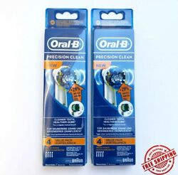 8 Braun Oral B Precision Clean Toothbrush Replacement Brush Heads Refill EB20 4 $12.95