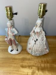 Vintage Bedroom Colonial Man And Lady Table Lamps $50.00