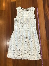 White Lace Bathing Suit Cover Up Dress Size L Large by KIMCHI BLUE $15.95