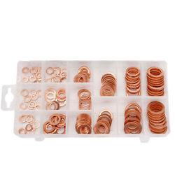 150Pcs Tap Plumbing Garage Engine Assorted Sump Plug Solid Copper Washer Set Kit $17.09