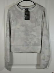 NWT WOMENS NIKE CAMOUFLAGE PULLOVER CREW NECK JACKET COATS TRAINING SZ 1X 3X