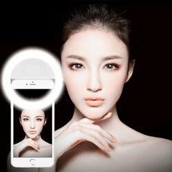 Portable Selfie Flash LED Ring Light Camera iPhone Android Phone Photo Picture $4.99