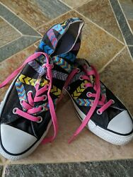 CONVERSE ALL STAR WOMEN#x27;S SNEAKERS TRIBAL STRIPES MULTICOLOR SIZE 8 $19.90