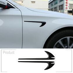 For Benz C E GLC Class W205 W213 X253 Black Side Air Vent Fender Trim AMG STYLE $19.55