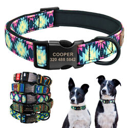 Personalized Pet Dog Collars Custom ID Name Tag Soft Padded for Small Large Dogs $11.99