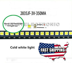 100pcs 2835 3528 3V Lamp Beads 350mA for LED TV Backlight Strip BarRepair TV $12.04