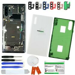 Clear Transparent Back Glass ReplacementIP68 for Samsung Galaxy Note 10 10 Plus $15.19