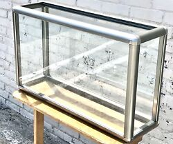 Mid Modern Century Aluminum Glass Display Case $249.00